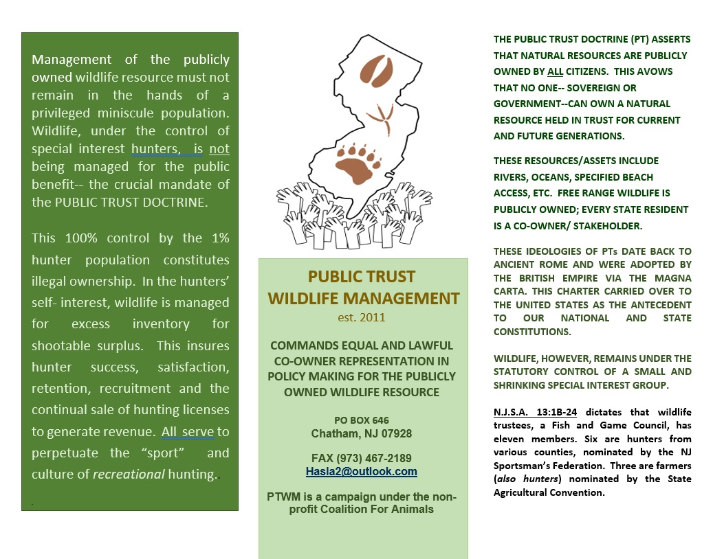 Public Trust Wildlife Management brochure p1