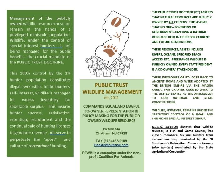 Public Trust Wildlife Management brochure p1